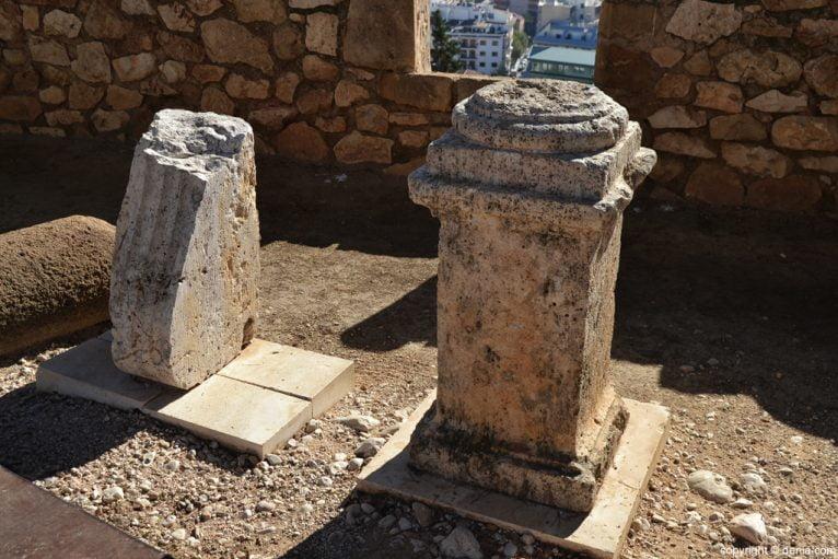 Castillo de Dénia - restos