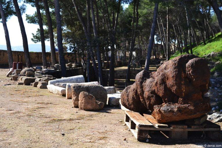 Castillo de Dénia - restos arqueológicos