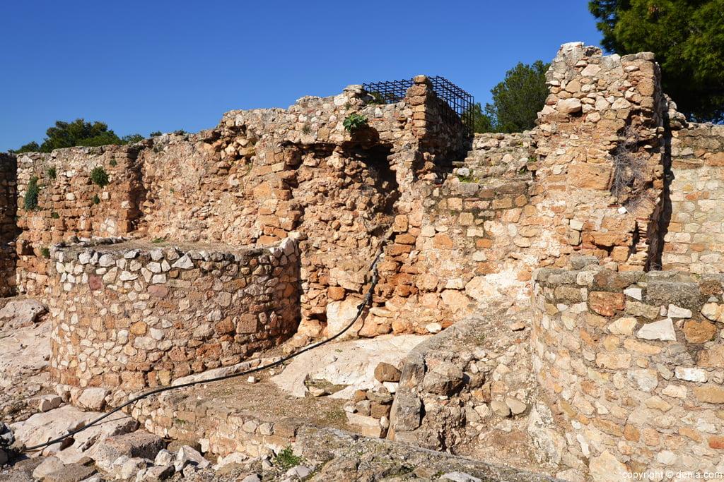 Castell de Dénia - restes de Palau