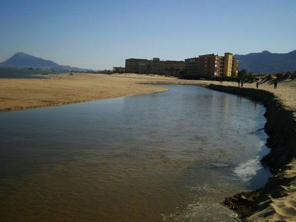 Desembocadura del río Molinell