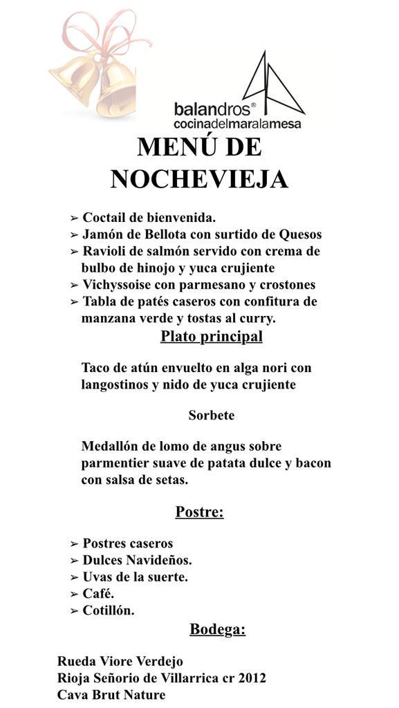 Men s de navidad y nochevieja en restaurante balandros - Restaurantes valencia nochevieja ...