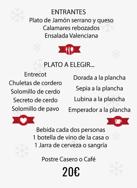 Menú Navidad y empresas Taberna Sevillana