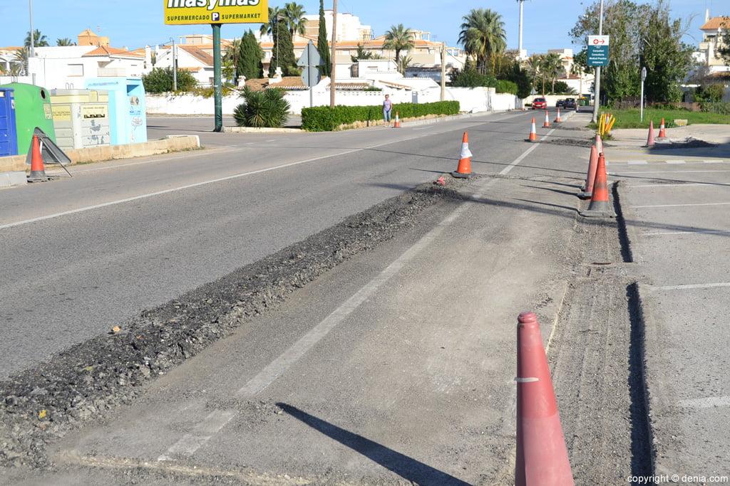 Works of the Les Marines bike path