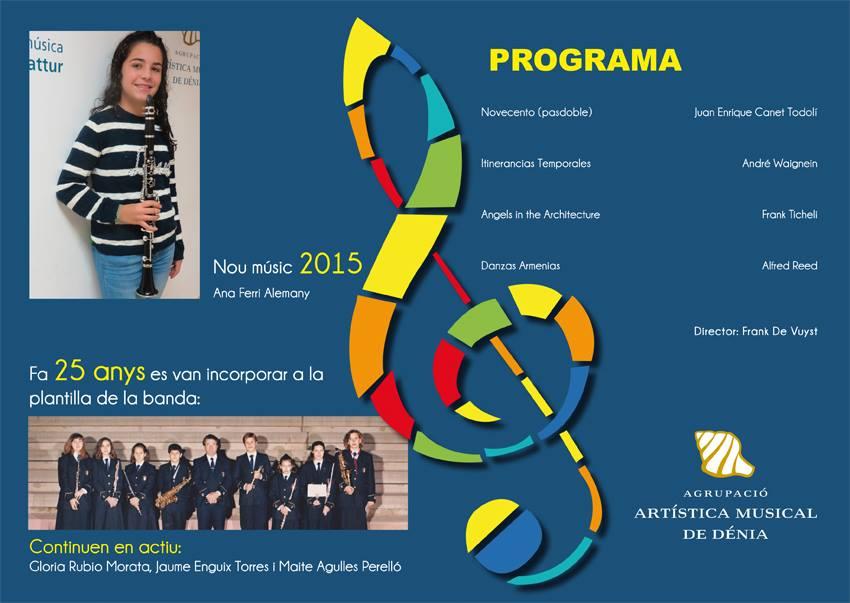 Programa del Concierto de Santa Cecilia