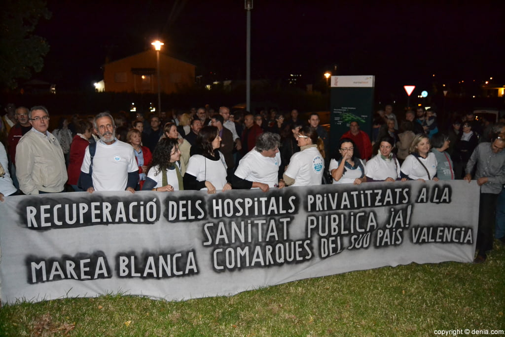 Protest in hospital