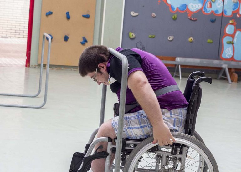 Municipald student of the School of Adapted Sports Dénia