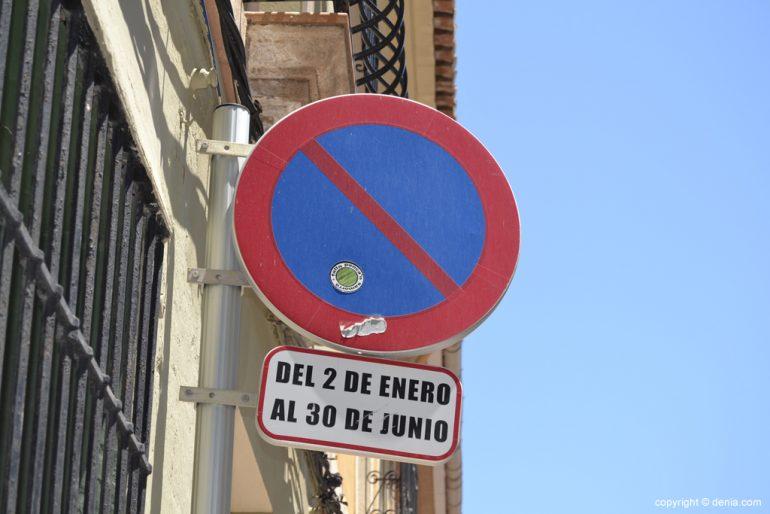 Cambio de estacionamiento en las calles de Dénia
