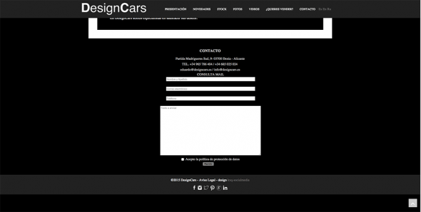 Contact Form Design Cars