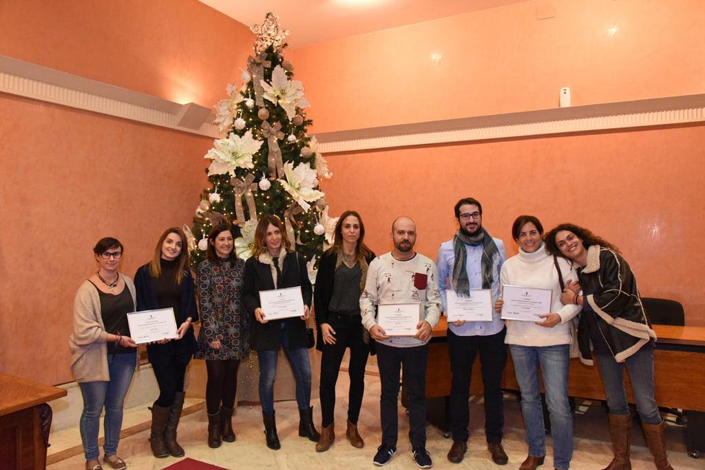 Ganadores de los premios del concurso de escaparatismo navideño