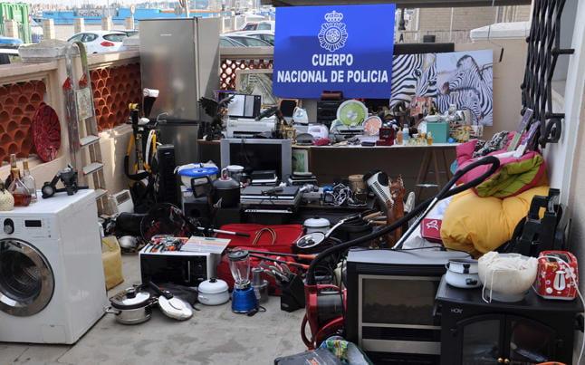 Objetos robados por una pareja en Dénia