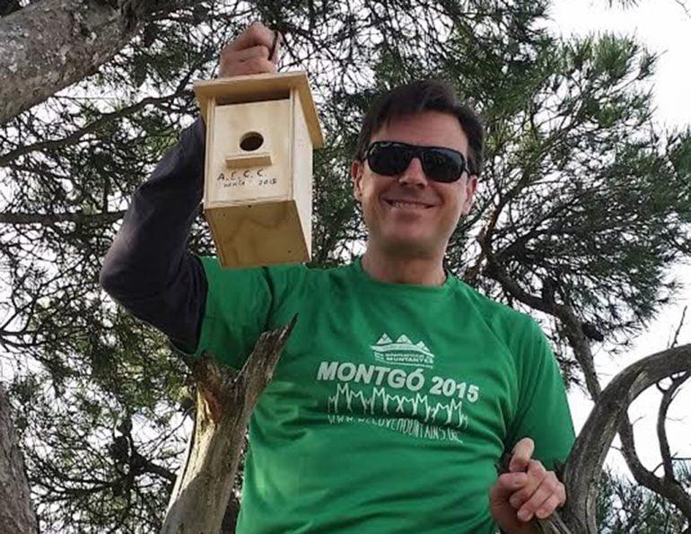 Pepe Sala  preparado una caja nido