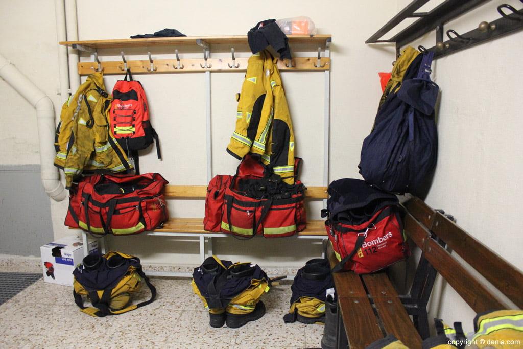 Vestuario del parque de bomberos de la Marina Alta