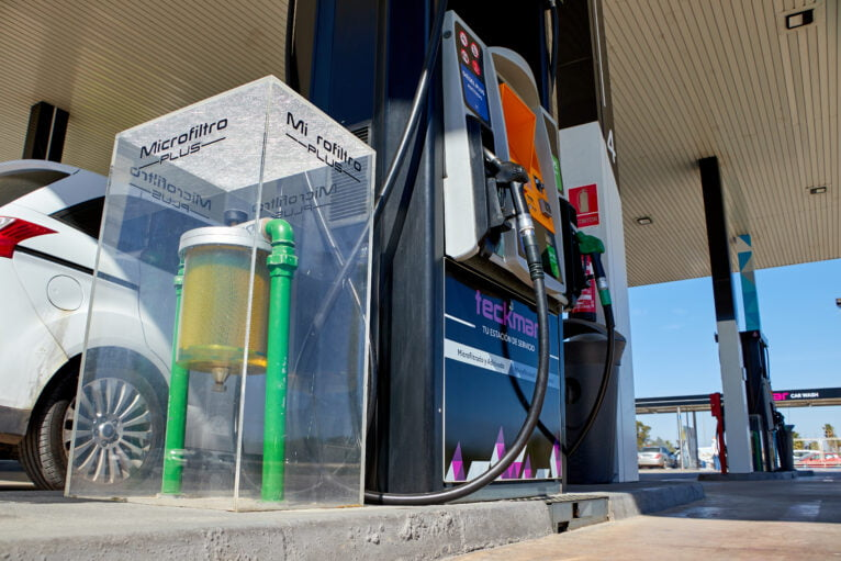 Microfiltro en los surtidores en Gasolineras Teckmar