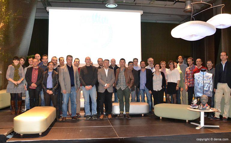 Alcaldes, concejales y organizadores del Circuit a Peu Marina Alta
