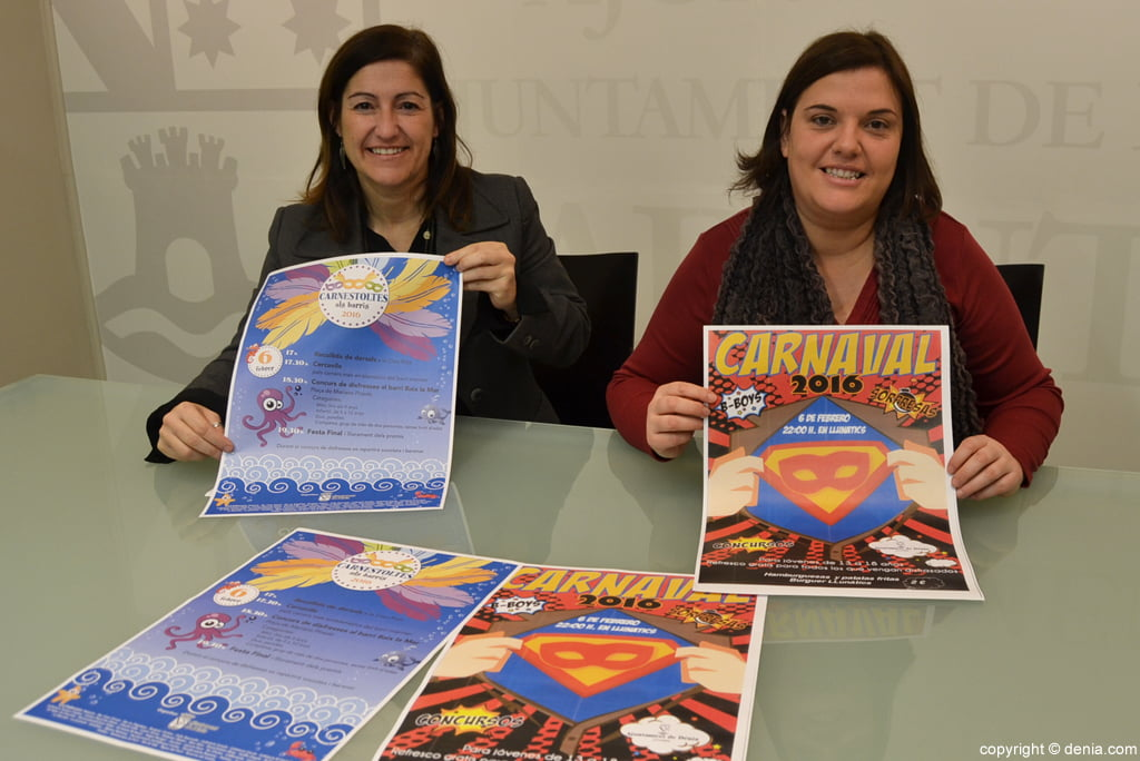 Eva Ronda y Cristina Morera presentan el Carnaval 2016