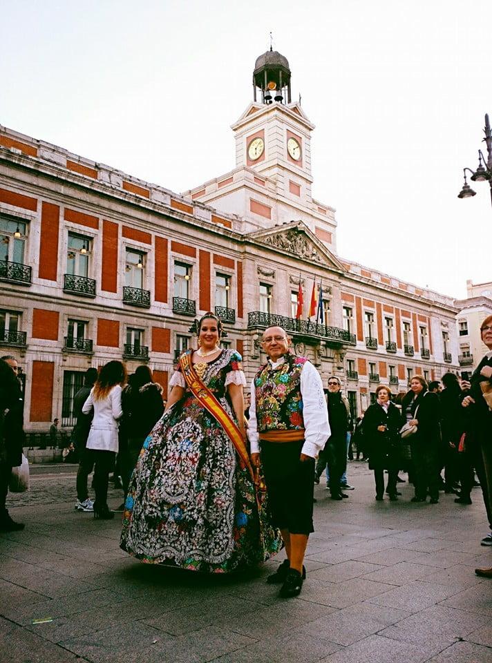 La Fallera Mayor de Dénia 2016 en la Puerta del Sol de Madrid
