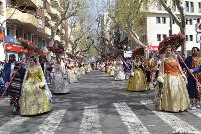 Ofrenda de flores Fallas de Dénia 2014 - Baix la Mar