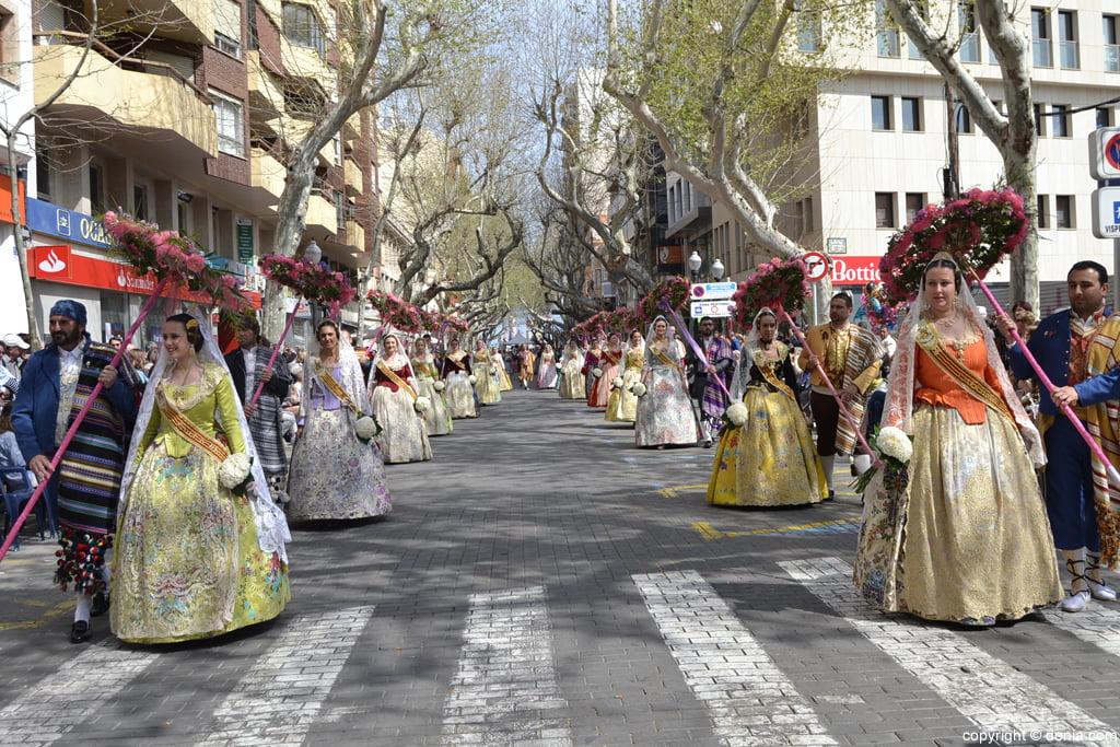 Ofrena de flors Falles de Dénia 2014 - Baix la Mar