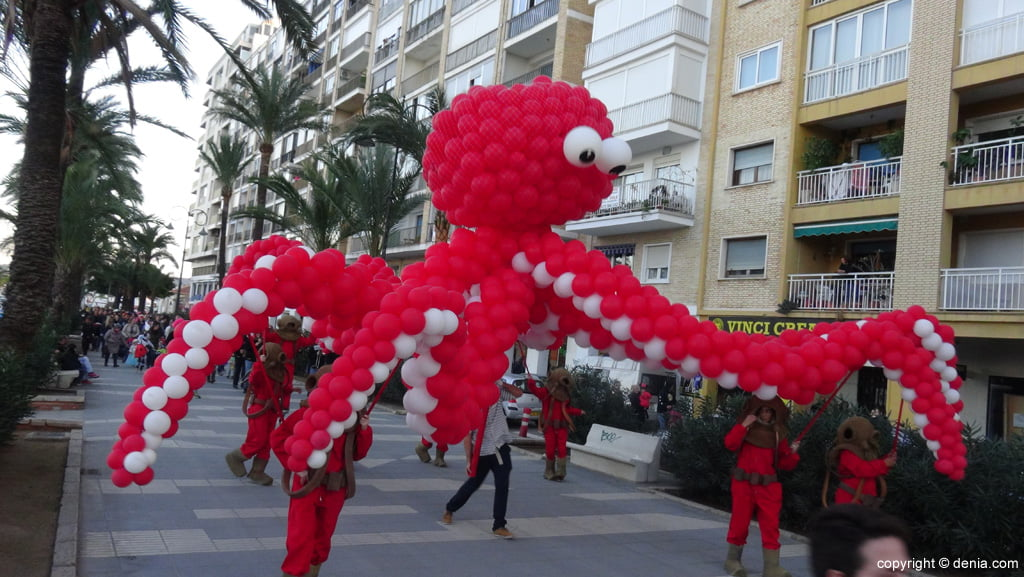 children's carnival Dénia 2016 - Giant Octopus