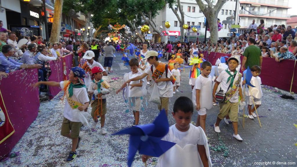 Carrozas Dénia 2015 – Comparsa infantil Falla Saladar