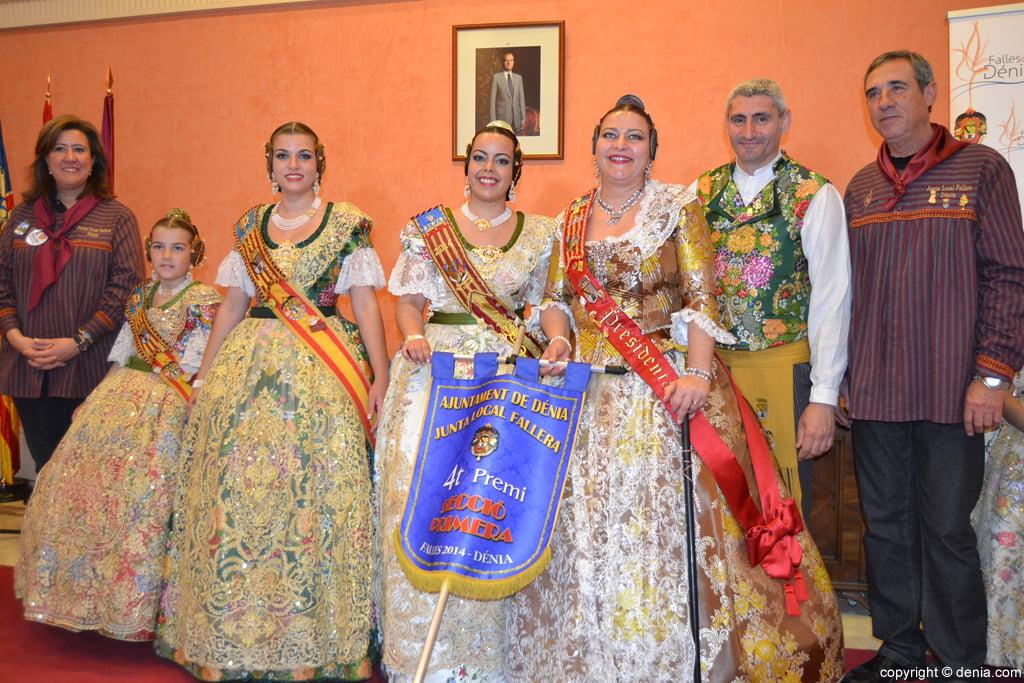 Falla Darrere del castell - 4º Premi Secció 1º
