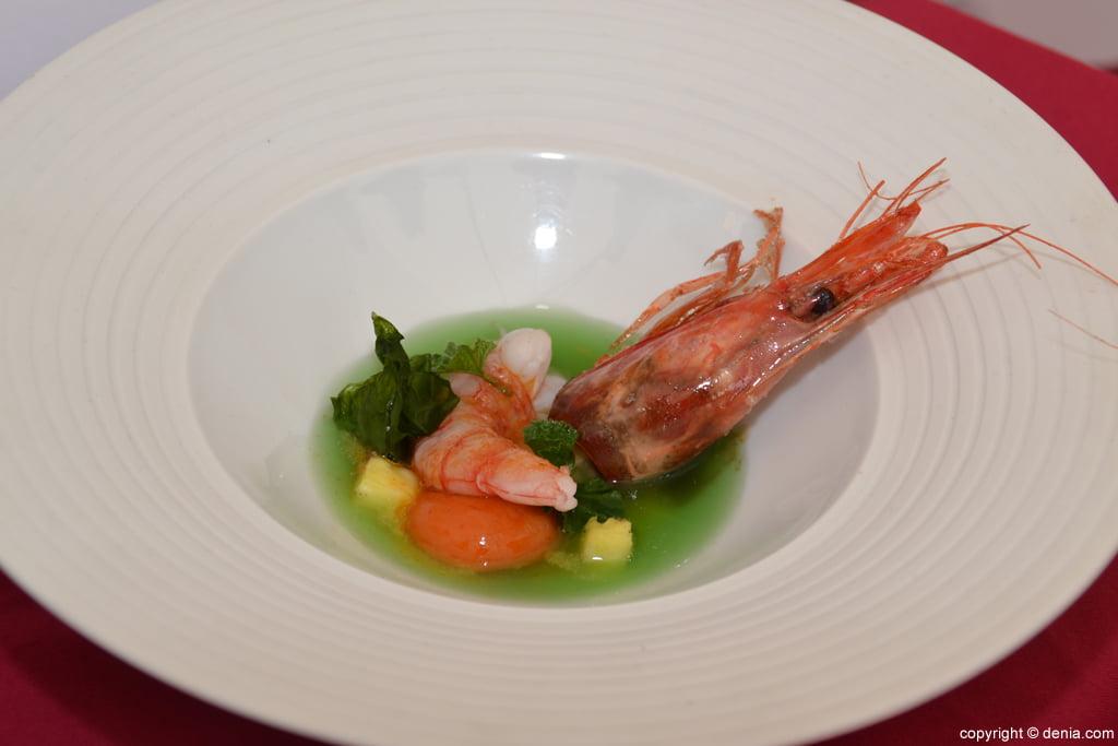 5º Concurso Internacional de Cocina Creativa de la Gamba Roja de Dénia – Plato de Iván Serrano Raboso