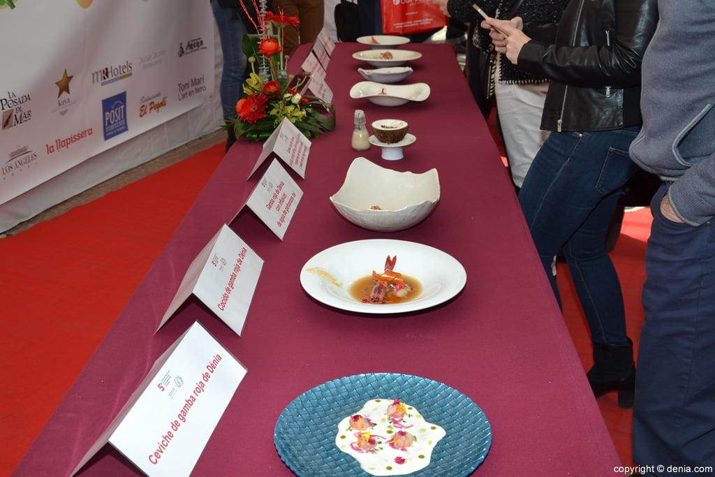 5º Concurso Internacional de Cocina Creativa de la Gamba Roja de Dénia – Platos finalistas