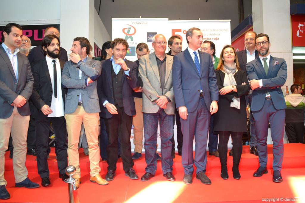 5º Concurso Internacional de Cocina Creativa de la Gamba Roja de Dénia – Miembros del jurado y autoridades