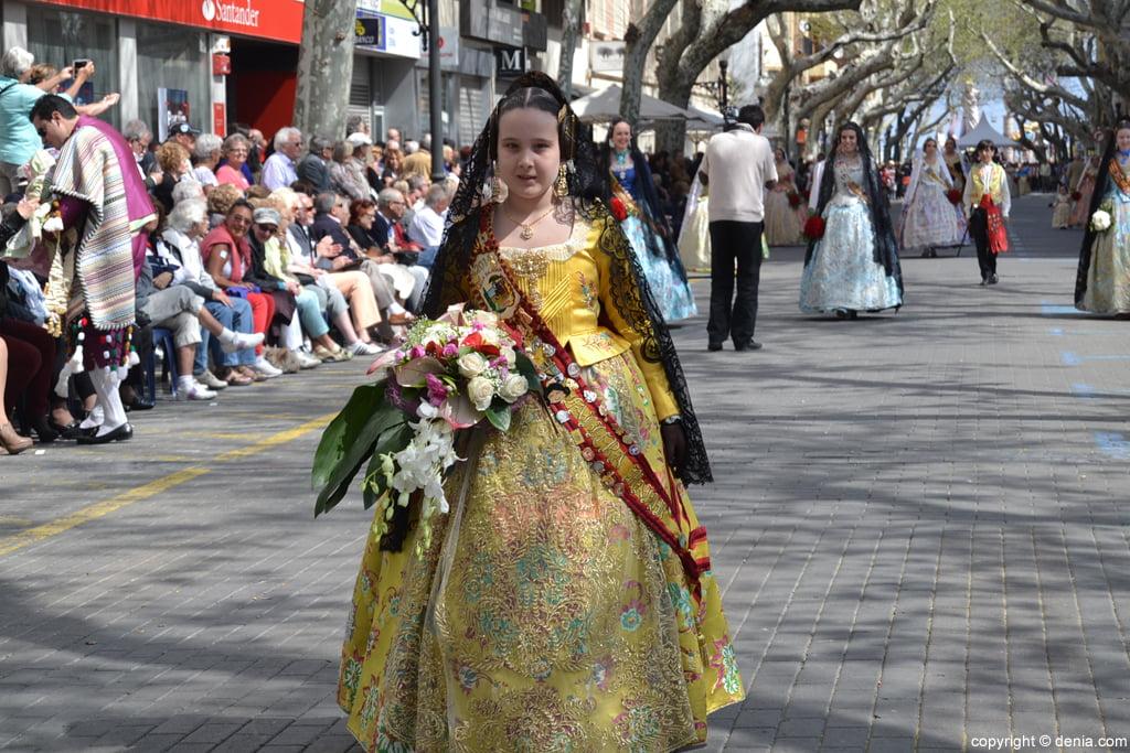 Ofrenda de flores Fallas de Dénia 2014 – Saladar – Marta Luisa López