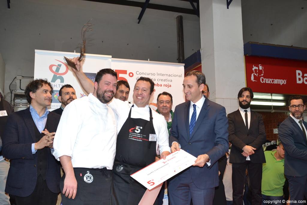 5º Concurso Internacional de Cocina Creativa de la Gamba Roja de Dénia – 3º Premio Victor Trochi
