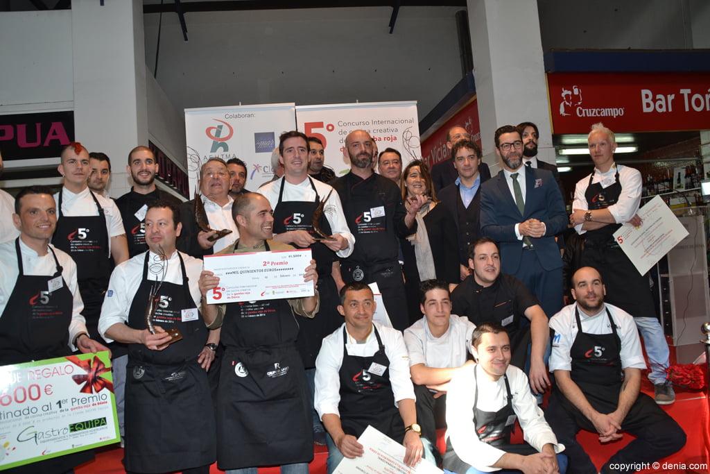 5º Concurso Internacional de Cocina Creativa de la Gamba Roja de Dénia – Participantes y jurado