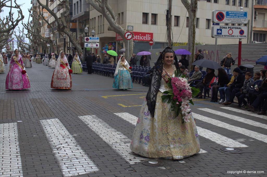 Ofrena Flors Falles Dénia 2015 - Falla Darrere de l'Castell