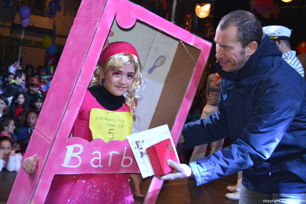 children's carnival Dénia 2016 - 1º junior category Award