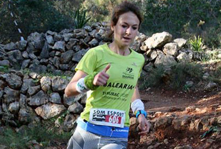 Aida Pérez en plena carrera