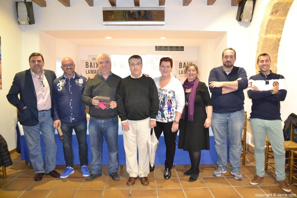 Miembros del Centre d'Estudis Fallers en la presentación