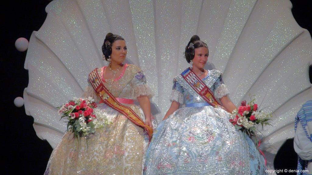 Presentació Darrere de l'Castell - falleres majors Maria i Mireia