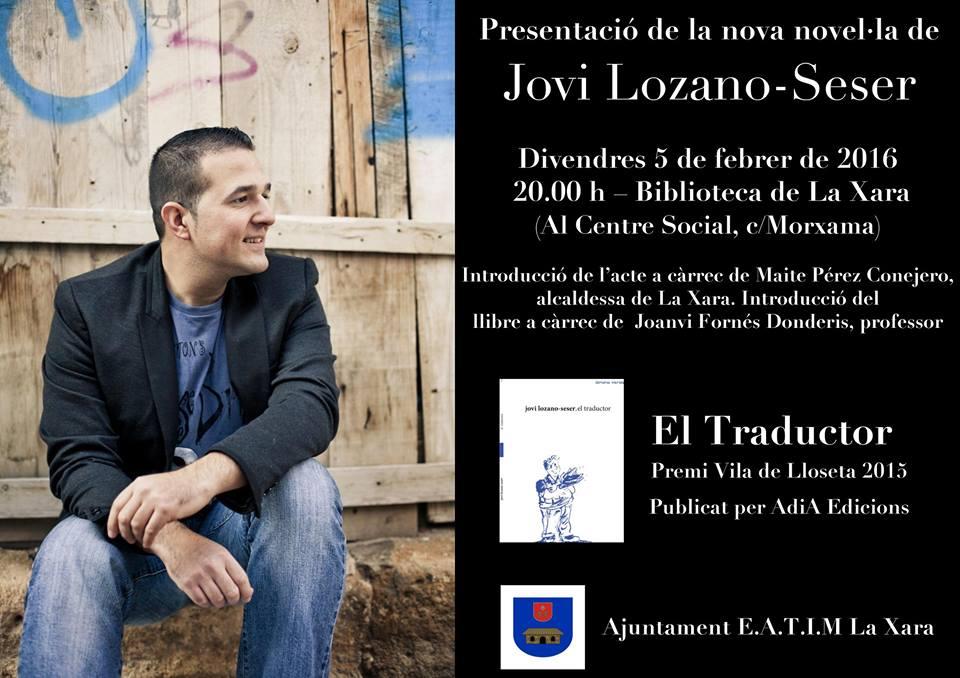 Presentación del libro de Jovi Lozano en La Xara