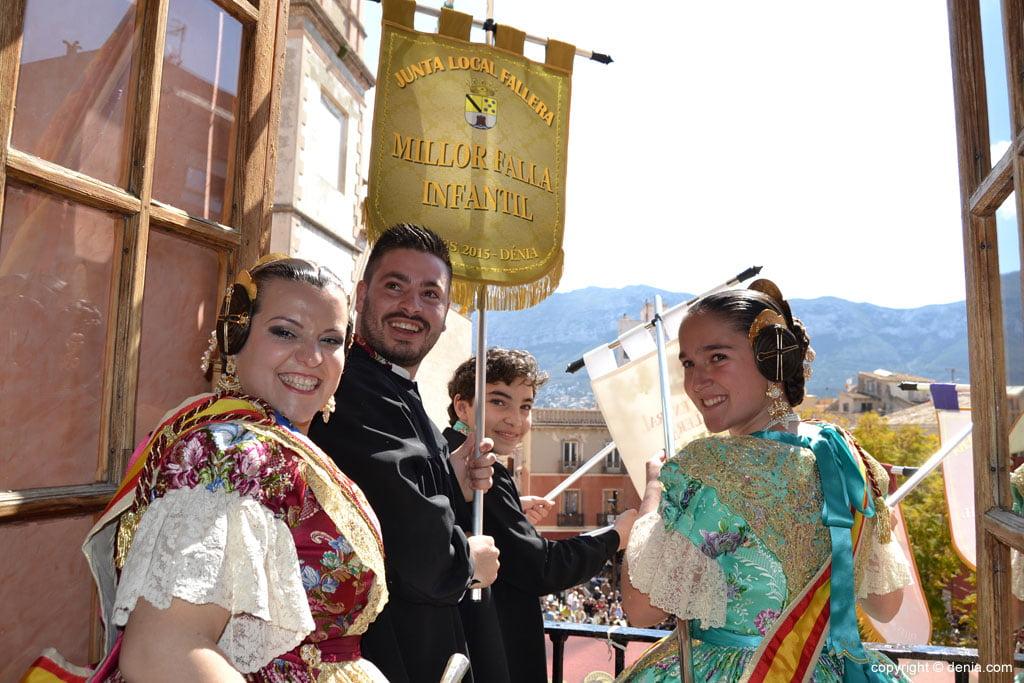 Premis Infantils Falles Dénia 2015 - la falla Centre celebra el primer premi