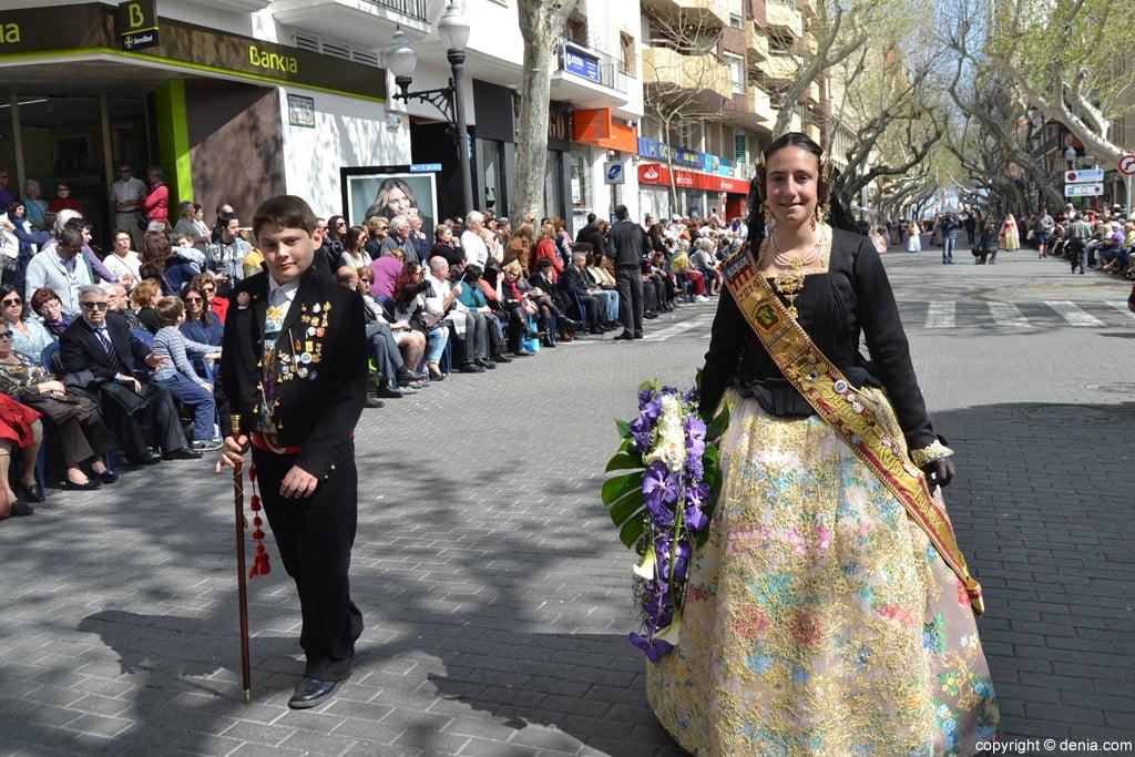 Ofrena de flors Falles de Dénia 2014 - Diana - Zaira Pastor i Iker Sahuquillo