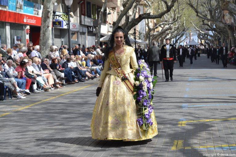 Ofrena de flors Falles de Dénia 2014 - Diana - Clara Cornejo
