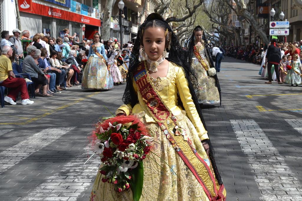 Подношение цветов Фальяс де-Дения 2014 - Париж Педрера - Candela Pastor