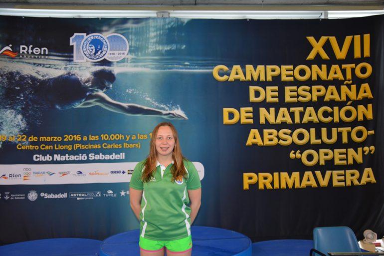 La nadadora Sara Vazquez