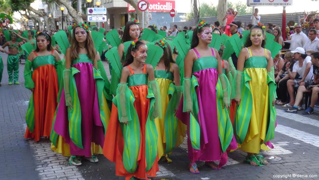 Carrozas Dénia 2015 – Comparsa infantil Baix la Mar