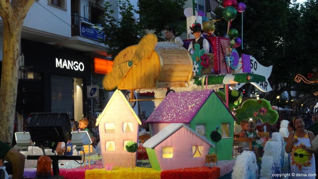 Carrozas Dénia 2015 – Carroza infantil Falla Saladar