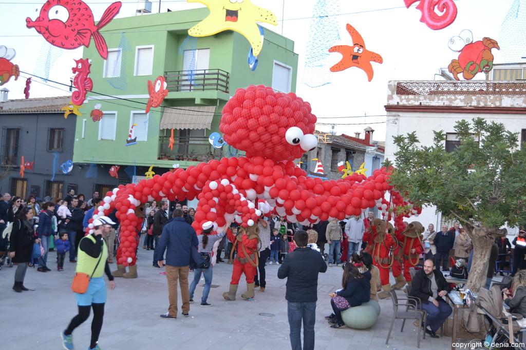 Carnaval infantil Dénia 2016 – Pulpo gigante