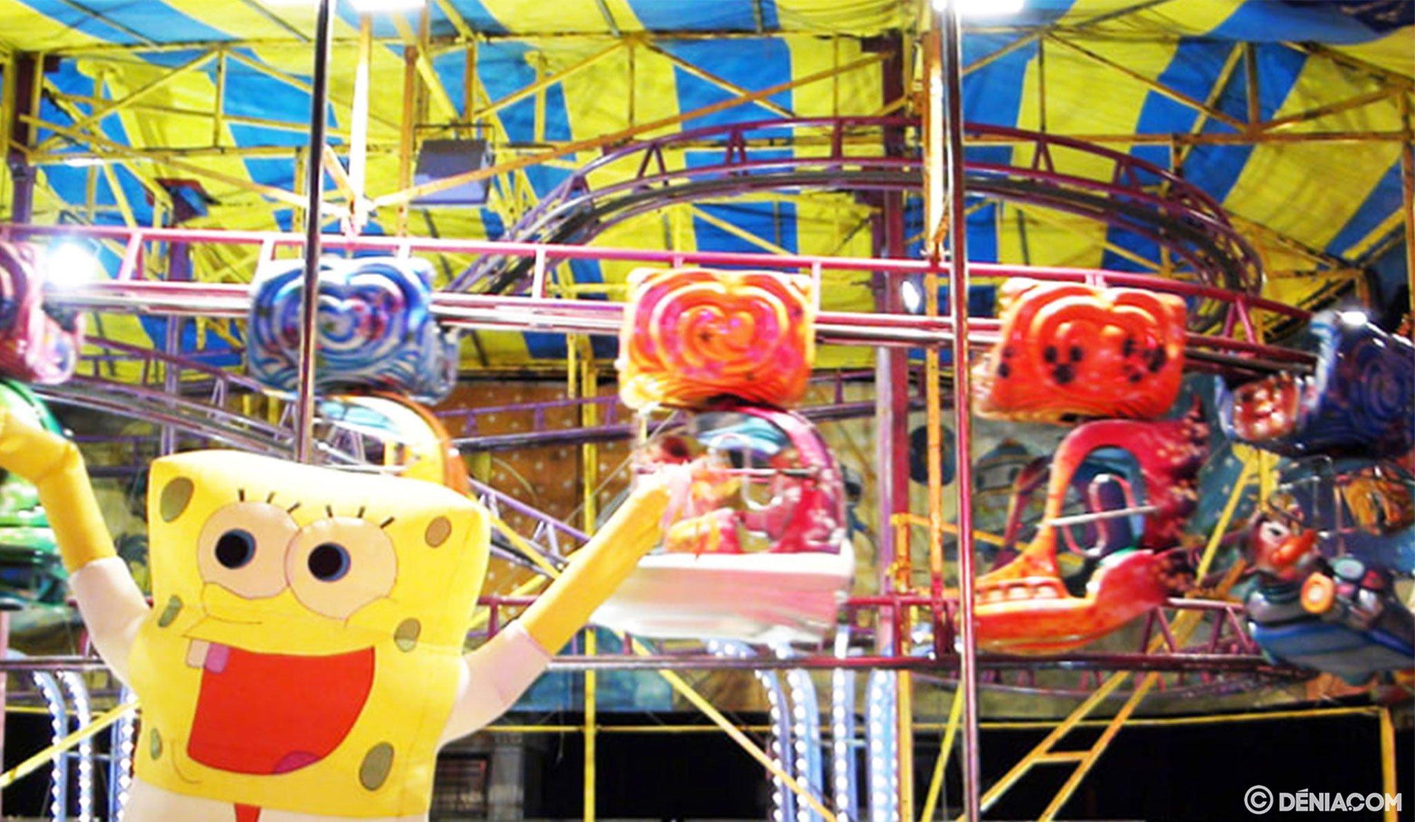 Atracción infantil en la feria de Dénia