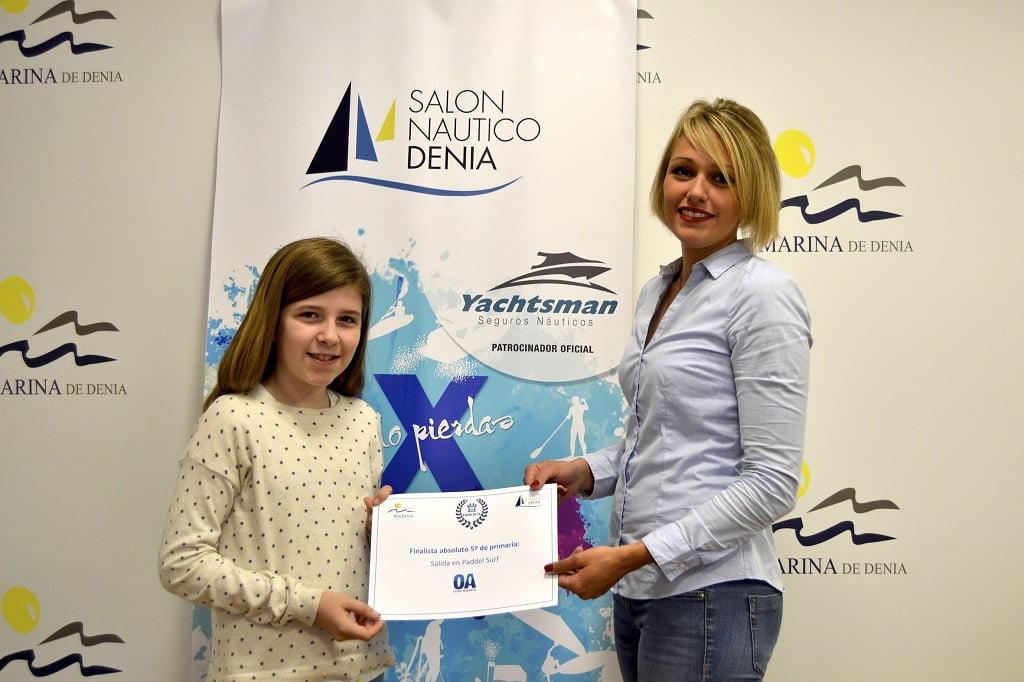 Ganadora 5ºconcurso dibujo Salón Naútico Dénia