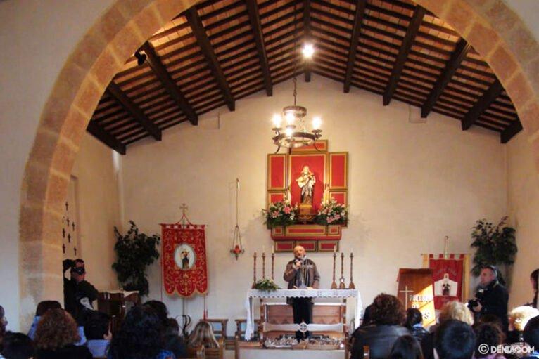 Interior de la ermita de Santa paula de Dénia