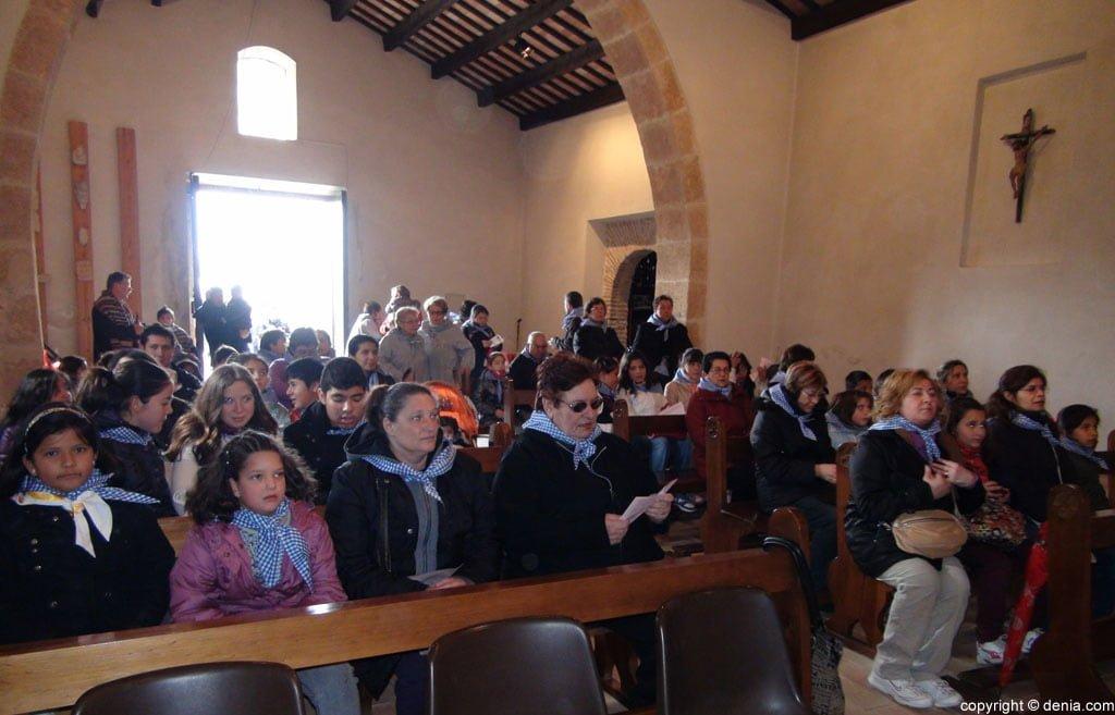 Misa en honor a Santa paula en Dénia