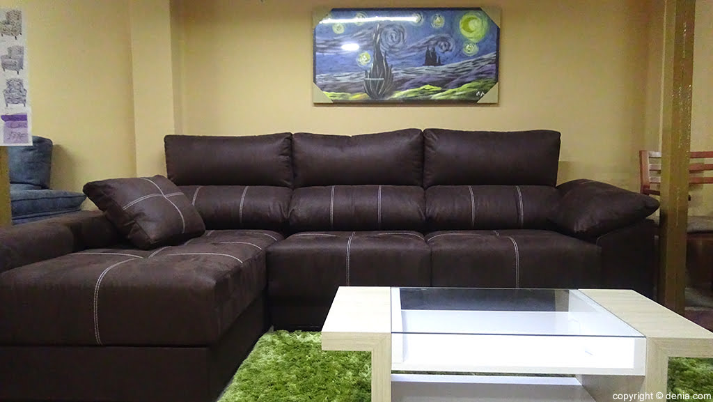 Sofa marró Mobles Mencor